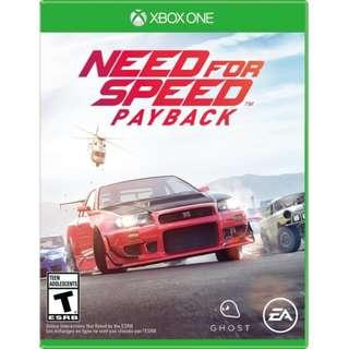 (NEW) X1 XBox One X Need for Speed Payback (Hong Kong, English)