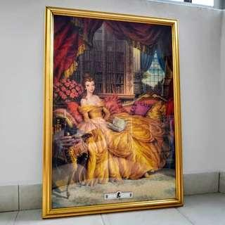 Belle from Beauty & The Beast puzzle frame
