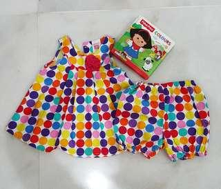 Colourful Top and Bottom for 1yr old Baby Girl Free Postage (WM)