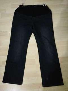 motherclub  Blue Black Maternity Denim Jeans