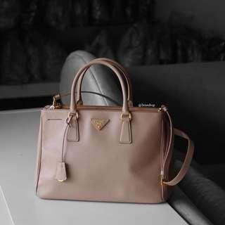 Authentic Prada Saffiano Lux Tote Bag