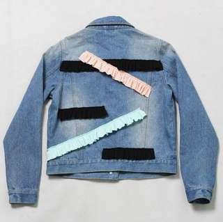 Schmiley Mo denim ruffle jacket