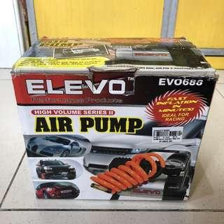 Elevo 150psi Air Pump for tire and other inflatables 12v Car power adapter