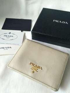 Prada Wallet - beige color