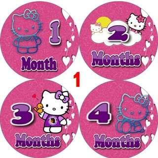 12 months baby milestone sticker
