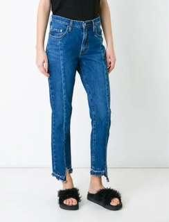 Nobody Denim Issy High Rise Slim Fit Jeans in Unravelled [Sz 28/10-12] RRP $240