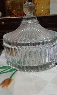 全新歐式水晶玻璃盒連蓋子