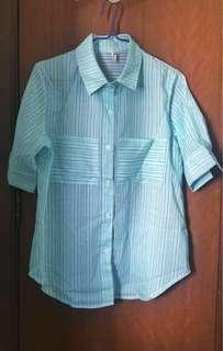 Mint Green Stripe Shirt