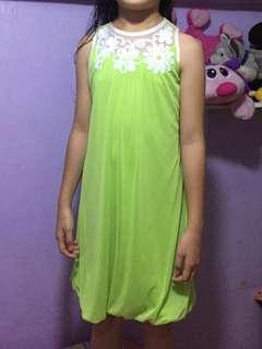 Yellow green dress