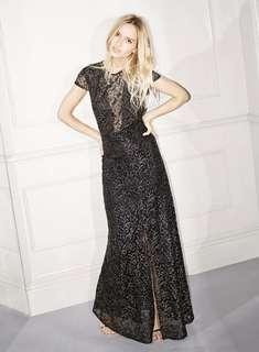 Miss Selfridge Black and Gold Shimmer dress