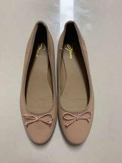 Nude Ballet Flats by Spurr