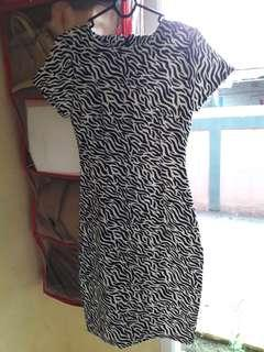 Dress zebra hitam putih