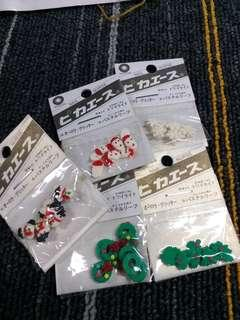 HK$10/1包, HK$40/5包 ~ 全新指甲美容指甲公仔裝飾品 New Nail Decoration
