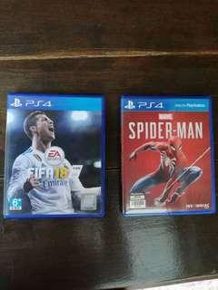 Spiderman and fifa 18