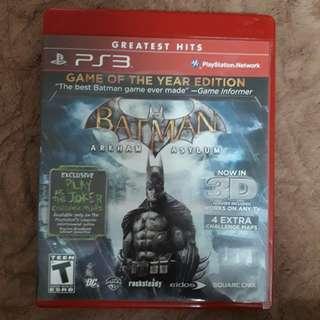 PS3 Batman: Arkham Asylum (GotY edition)