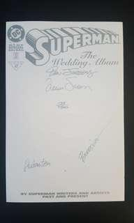 Superman The Wedding Album (1996) Signed By 4 LEGENDS- Dan Jurgens, Louise Simonson, Brett Breeding and Joe Rubinstein!! Dynamic Forces Limited Edition Numbered Book 223 Out Of 7500 Copies Worldwide! The Biggest Event Of The CENTURY, Need We Say More??