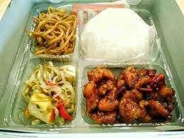 Paket nasi ayam bakar ayam goreng catering prasmanan box kotak bungkus