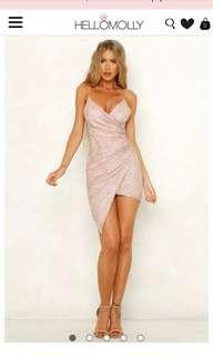 Hello Molly Make Me Complete Dress Pink/Bronze
