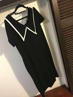 Uk16 black office dress