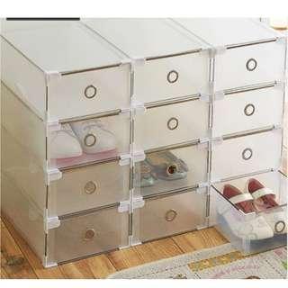 5 pcs Transparent Stack-able Shoe Box