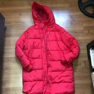 H&M long puffer/bubble jacket