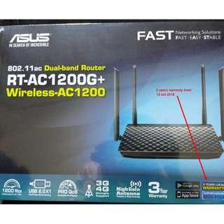 Asus RT-AC1200G+ Router warranty