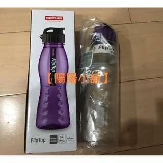 🚚 【陽陽小舖】《NEOFLAM 》FlipTop(指推瓶)曲線水壺700ml Tritan(紫蓋)