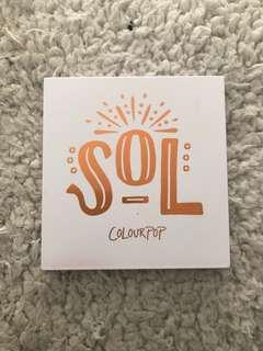 SOL colourpop eyeshadow palette