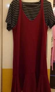 Crop top + Mermaid Cami Dress
