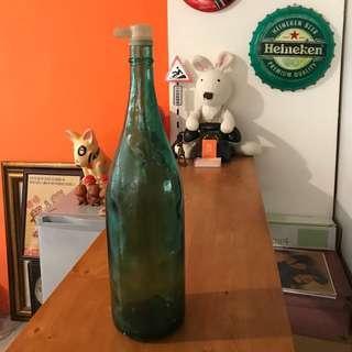 🚚 「早期玻璃醬油瓶 高度約53cm」 早期 古董 復古 懷舊 稀少 有緣 大同寶寶 黑松 沙士 鐵件 40年 50年