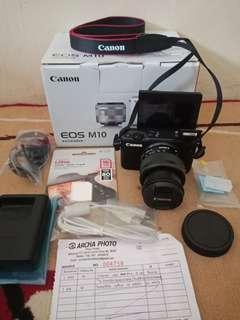 Kamera Mirroless Canon M10 Garansi 6bln