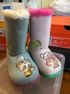 95%new👍🏻Grandground 日本潮童品牌幼童秋冬雪靴