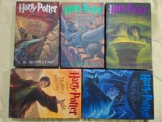 +99 for sf Hardbound Harry Potter 1,3,5,6,7
