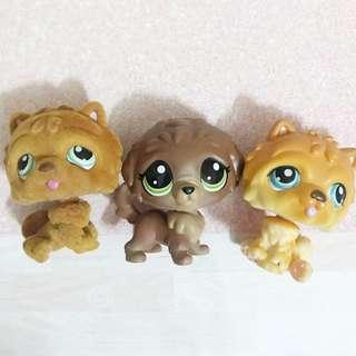Littlest pet shop lps chow chow and mastiff