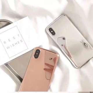 iPhone 7/ 8 Plus Reflective Mirror Soft TPU Case Cover