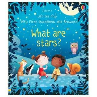 (Brand New) What are stars?  [Lift-the-flap very first questions and answers] By Katie Daynes For Ages: 3+ years old