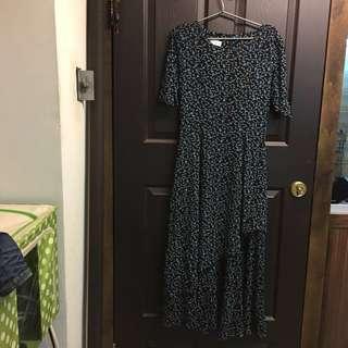 🚚 文藝復古 歐式 荷葉碎花連身裙 洋裝 #十月女裝半價