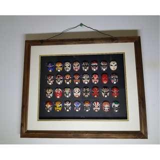 Chinese Opra masks wall art