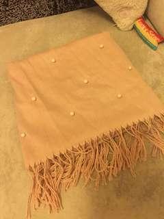 Korea pearl nude scarf 裸色圍巾🧣crawl wrap