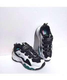 Skechers D'Lites 3 'White / Black / Green'