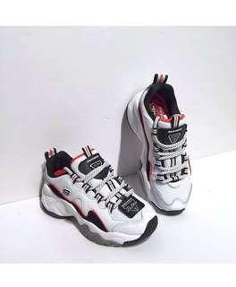 Skechers D'Lites 3 'White / Black / Red'