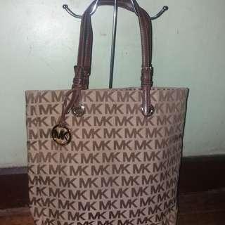 Original Michael kors mk monogram jet set tote bag