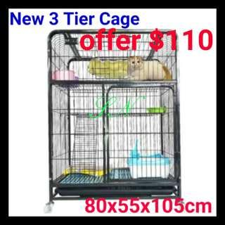 Cat Cage Dog Cage Bird rabbit 3 Tier Pet Cage cheapest cage, not hammock cushion bed food BOWL pet carrier Astranaut Haversack cat condo tree sctracth