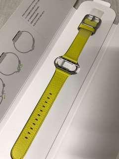 100% Apple Orignial Apple Watch 38mm/40mm Leather Classic buckle - Spring Yellow 一個原裝真皮錶帶 春日黃