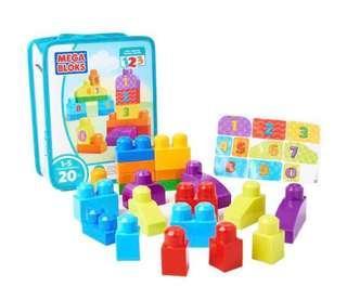 FisherPrice Mega Bloks Build And Learn 123 Count