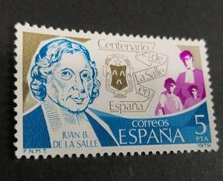 Spain 1979. The 100th Anniversary of the Institute of Christian Brothers Complete set of 1 stamp