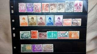 Indonesia Stamps lot of 24 stamps 1950s to 1960s classic