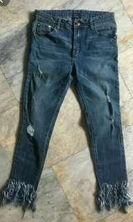 Surplus Fringed Ankle Jeans