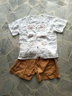 Traditional Thailand Boy Size 100 Costume Set Shirt & Pant