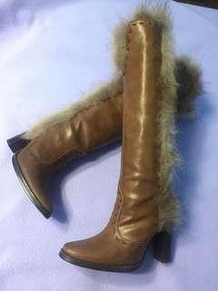 小腳美眉快過來!👋冬天必備長靴咖啡皮革36